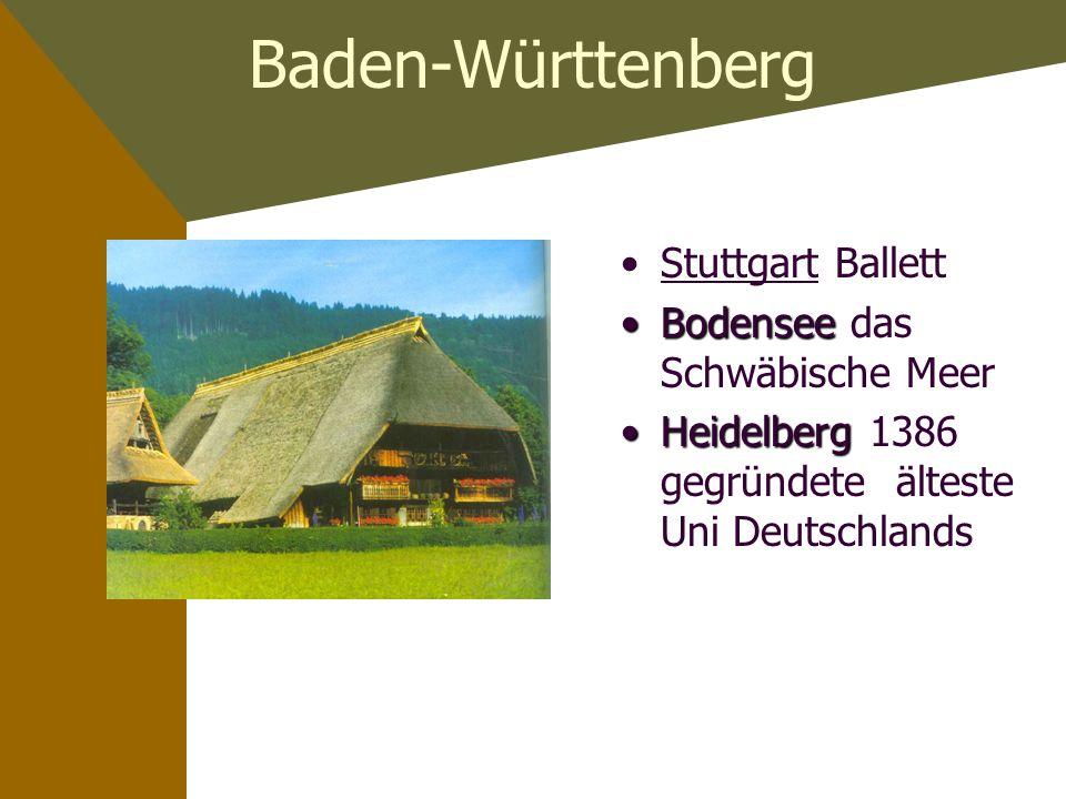 Baden-Württenberg Stuttgart Ballett Bodensee das Schwäbische Meer