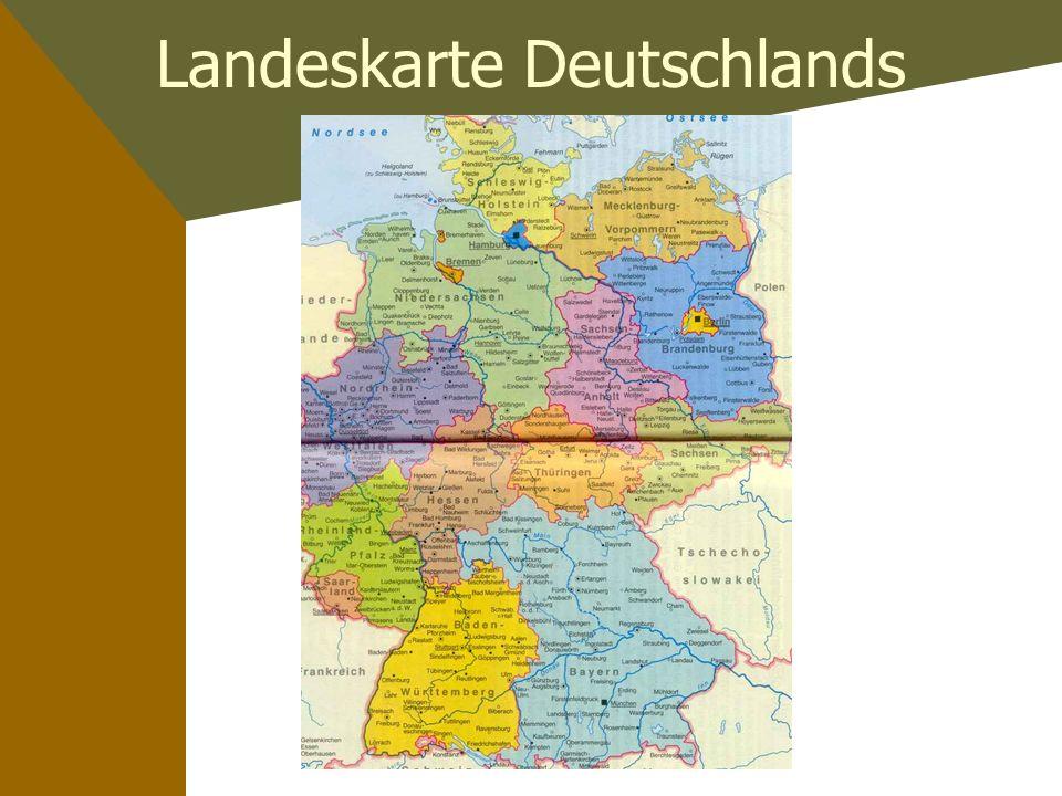 Landeskarte Deutschlands