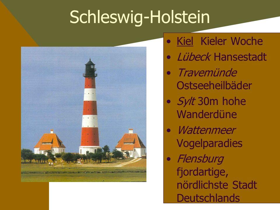 Schleswig-Holstein Kiel Kieler Woche Lübeck Hansestadt