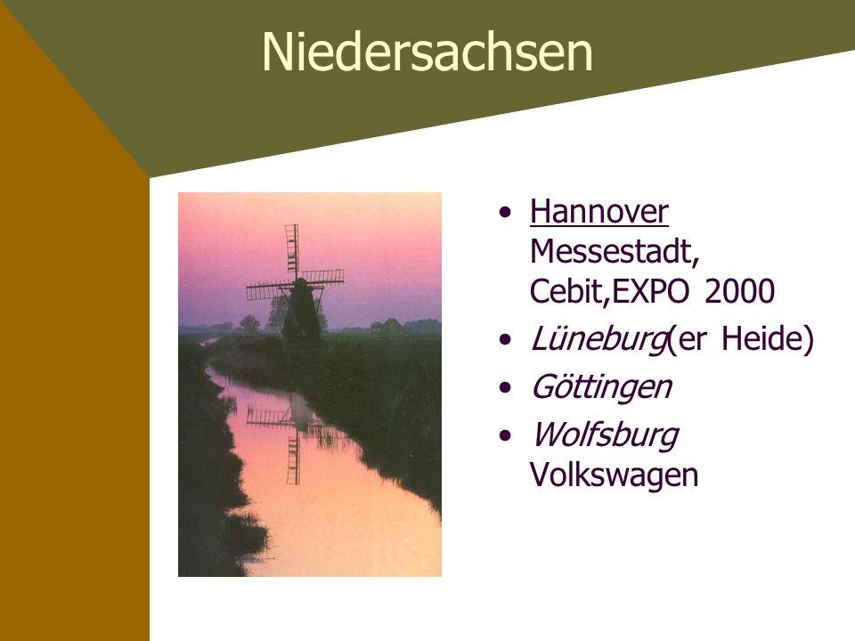 Niedersachsen Hannover Messestadt, Cebit,EXPO 2000 Lüneburg(er Heide)