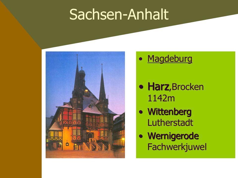 Sachsen-Anhalt Harz,Brocken 1142m Magdeburg Wittenberg Lutherstadt
