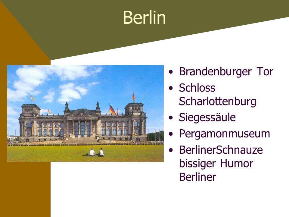 Berlin Brandenburger Tor Schloss Scharlottenburg Siegessäule