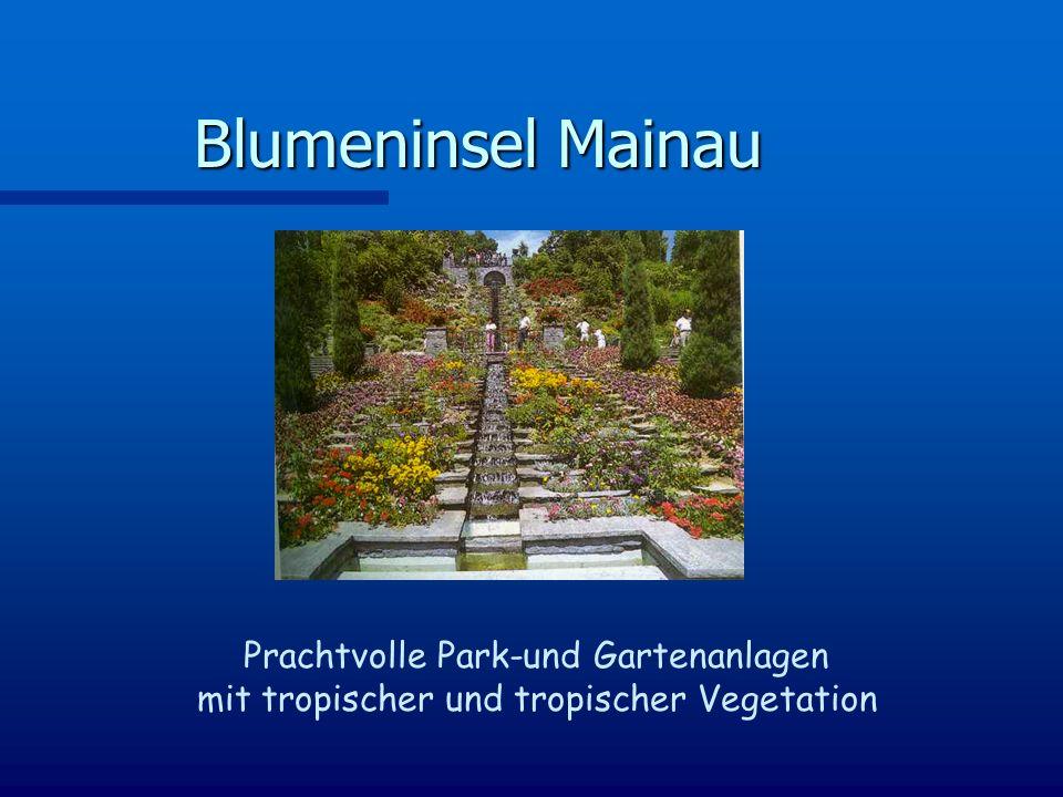 Blumeninsel Mainau Prachtvolle Park-und Gartenanlagen