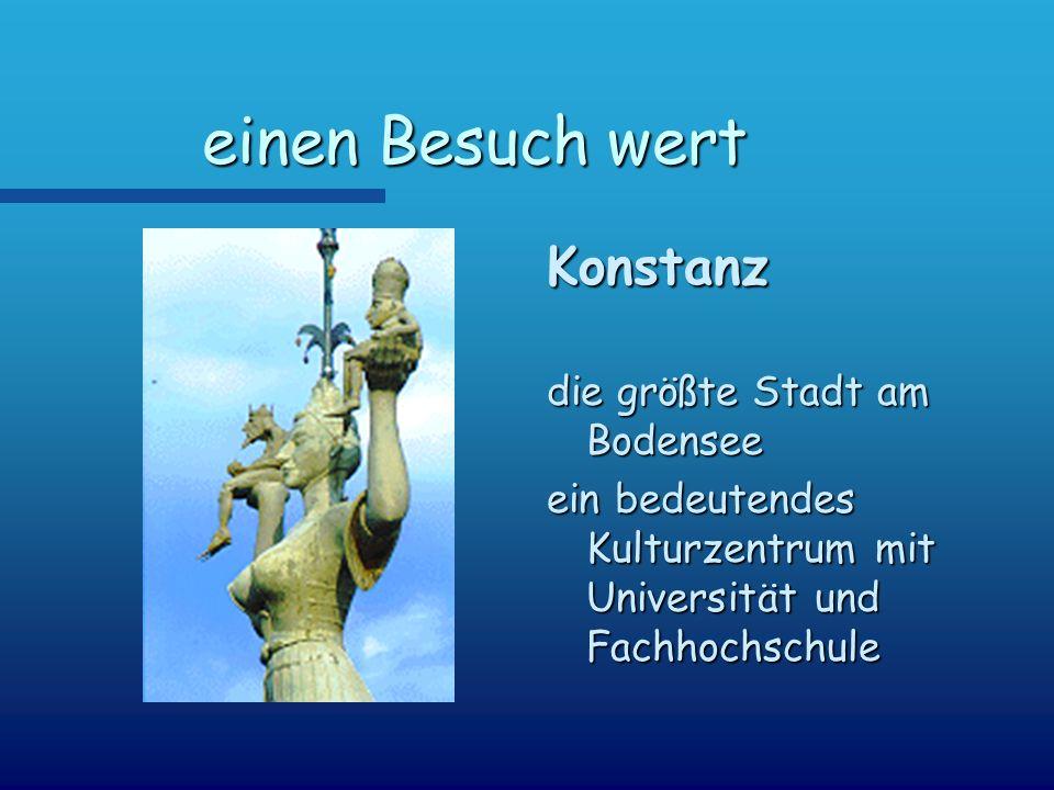 einen Besuch wert Konstanz die größte Stadt am Bodensee