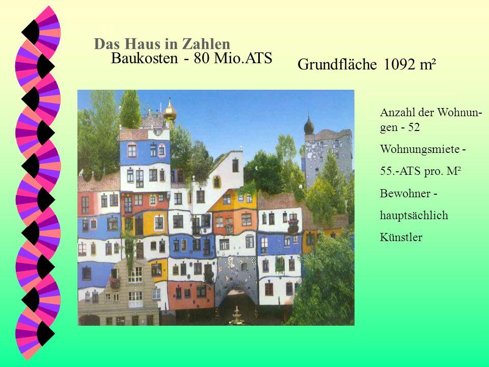 Das Das Haus in Zahlen Baukosten - 80 Mio.ATS Grundfläche 1092 m²