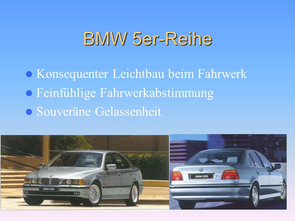 BMW 5er-Reihe Konsequenter Leichtbau beim Fahrwerk