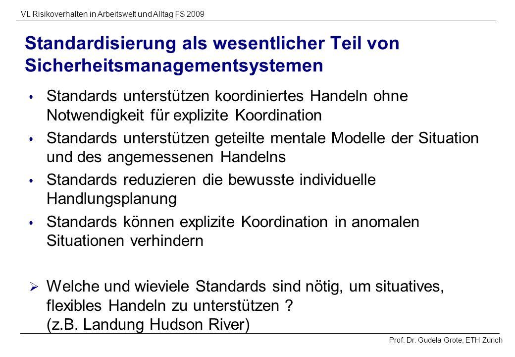 Standardisierung als wesentlicher Teil von Sicherheitsmanagementsystemen