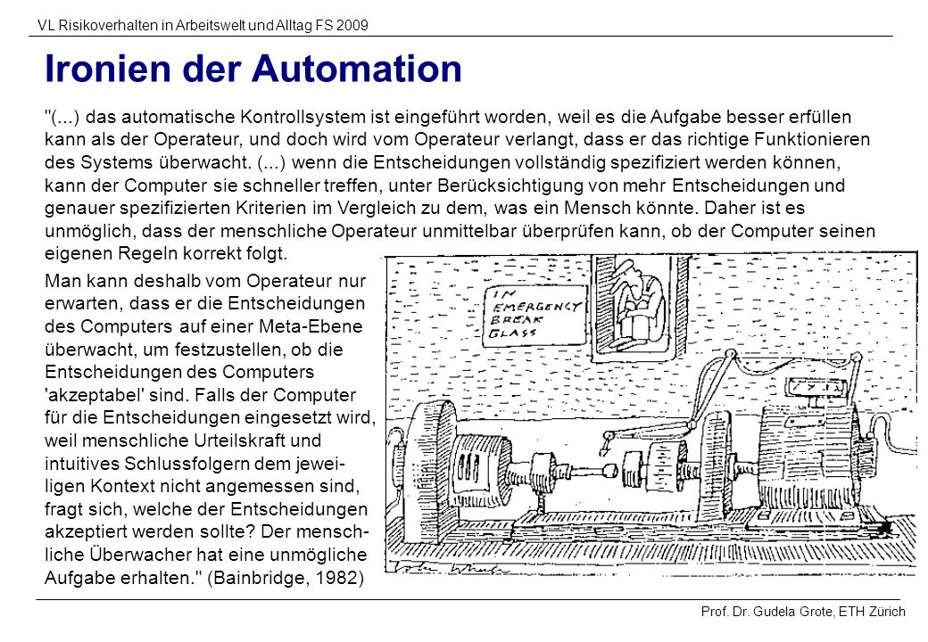 Ironien der Automation