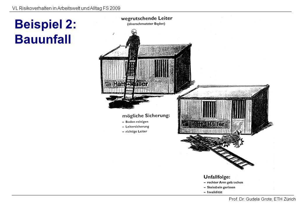 Beispiel 2: Bauunfall