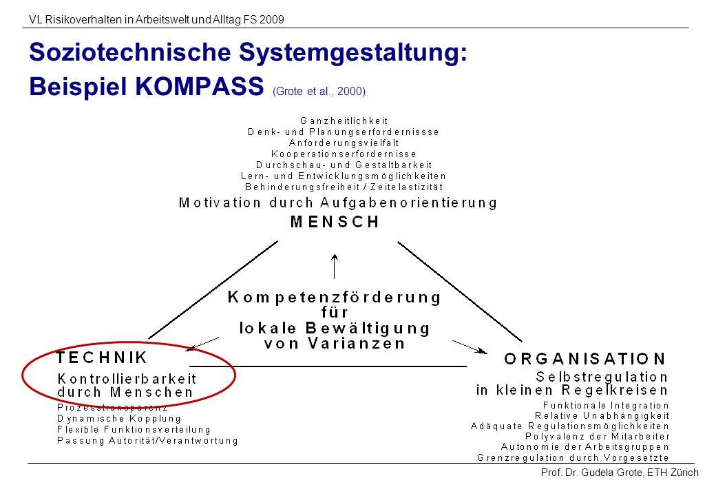 Soziotechnische Systemgestaltung: Beispiel KOMPASS (Grote et al