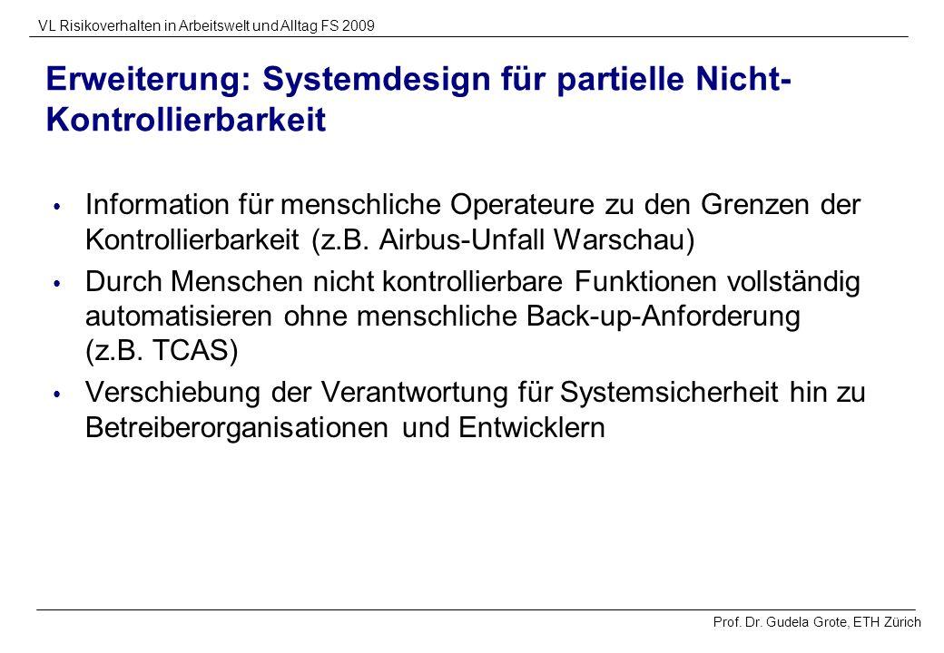 Erweiterung: Systemdesign für partielle Nicht-Kontrollierbarkeit
