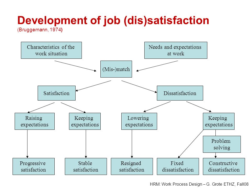 Development of job (dis)satisfaction (Bruggemann, 1974)