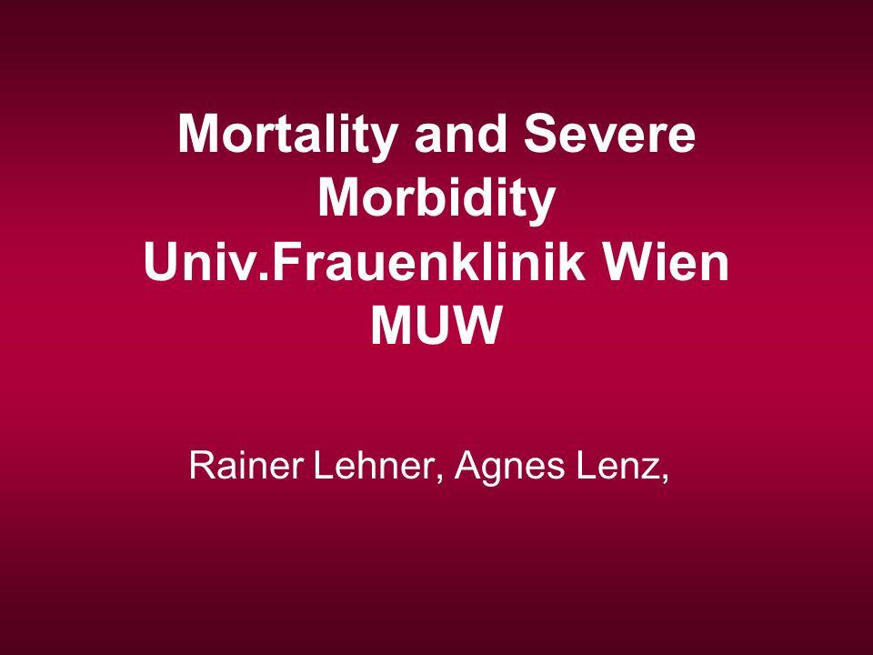 Mortality and Severe Morbidity Univ.Frauenklinik Wien MUW