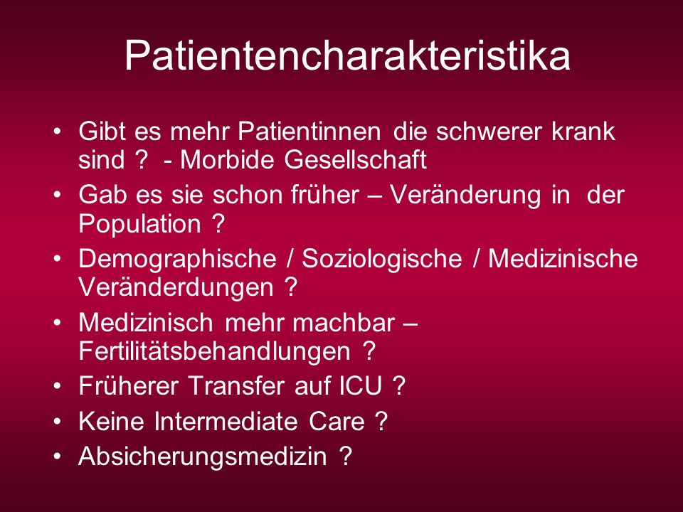 Patientencharakteristika