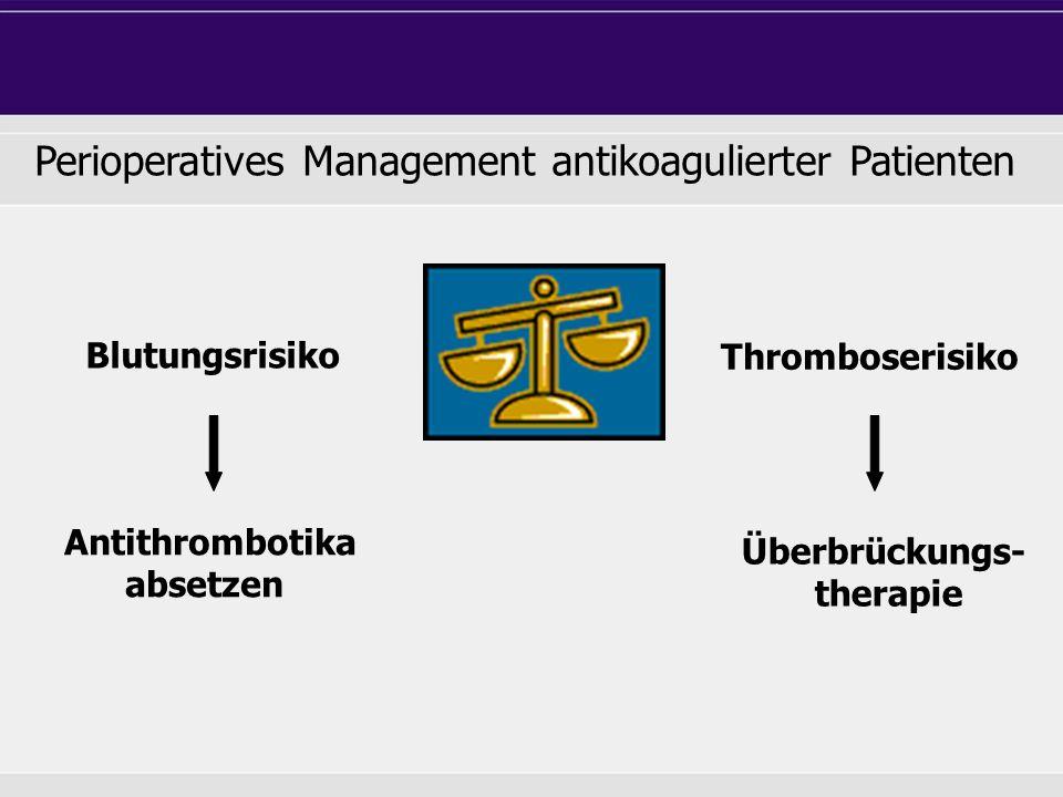 Perioperatives Management antikoagulierter Patienten