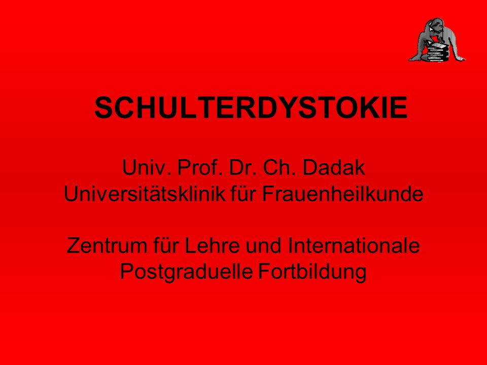 SCHULTERDYSTOKIE Univ. Prof. Dr. Ch