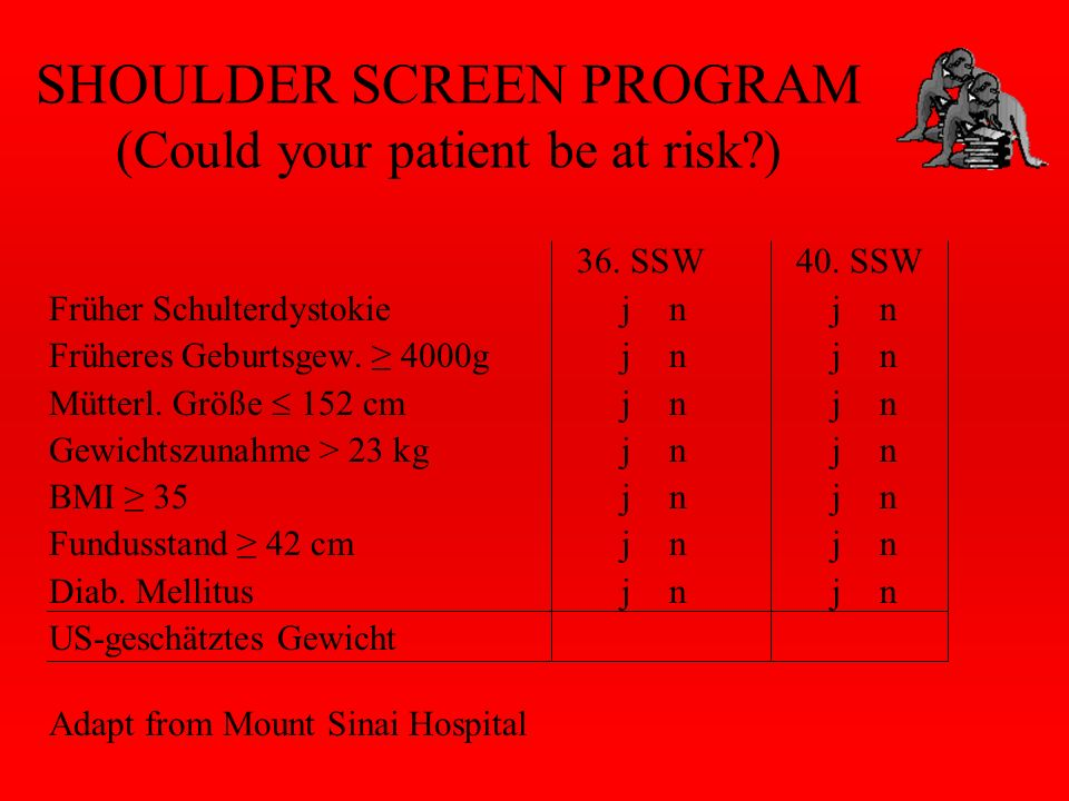 SHOULDER SCREEN PROGRAM (Could your patient be at risk )