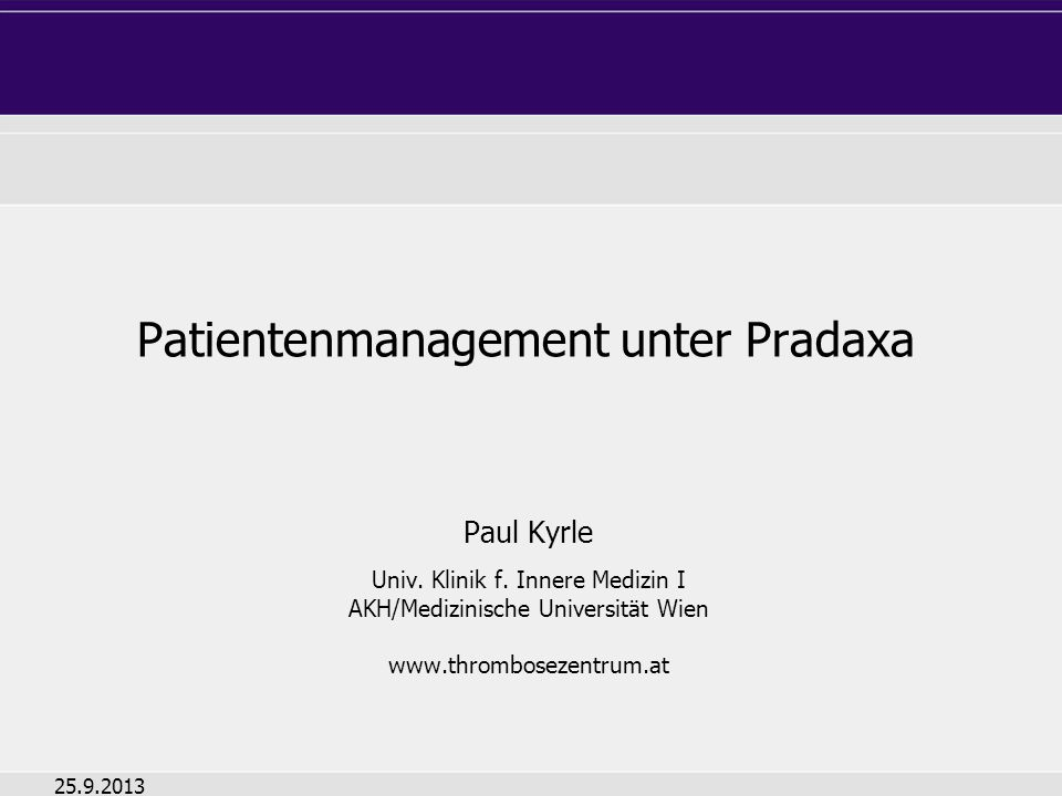 Patientenmanagement unter Pradaxa