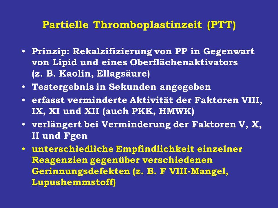 Partielle Thromboplastinzeit (PTT)