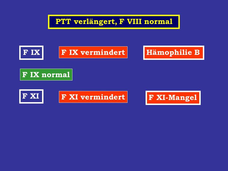 PTT verlängert, F VIII normal