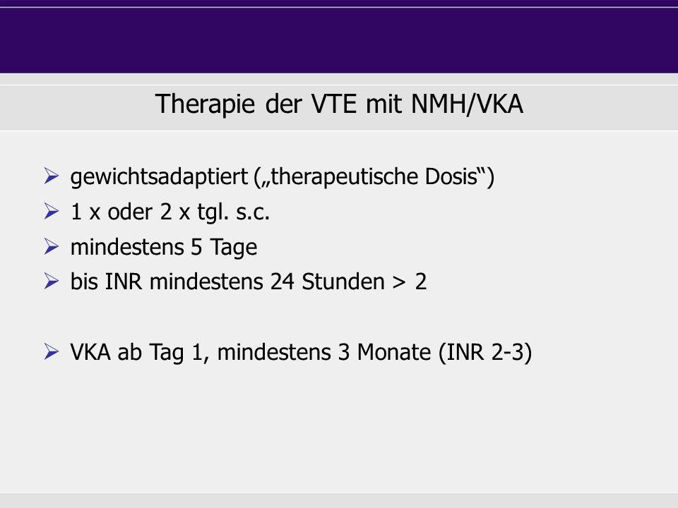 Therapie der VTE mit NMH/VKA