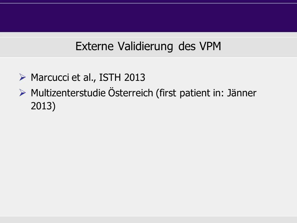 Externe Validierung des VPM