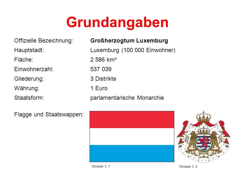 Grundangaben Offizielle Bezeichnung: Großherzogtum Luxemburg