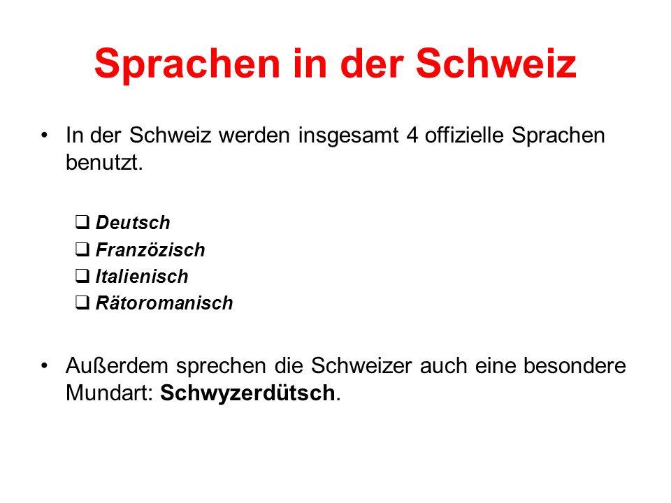 Sprachen in der Schweiz