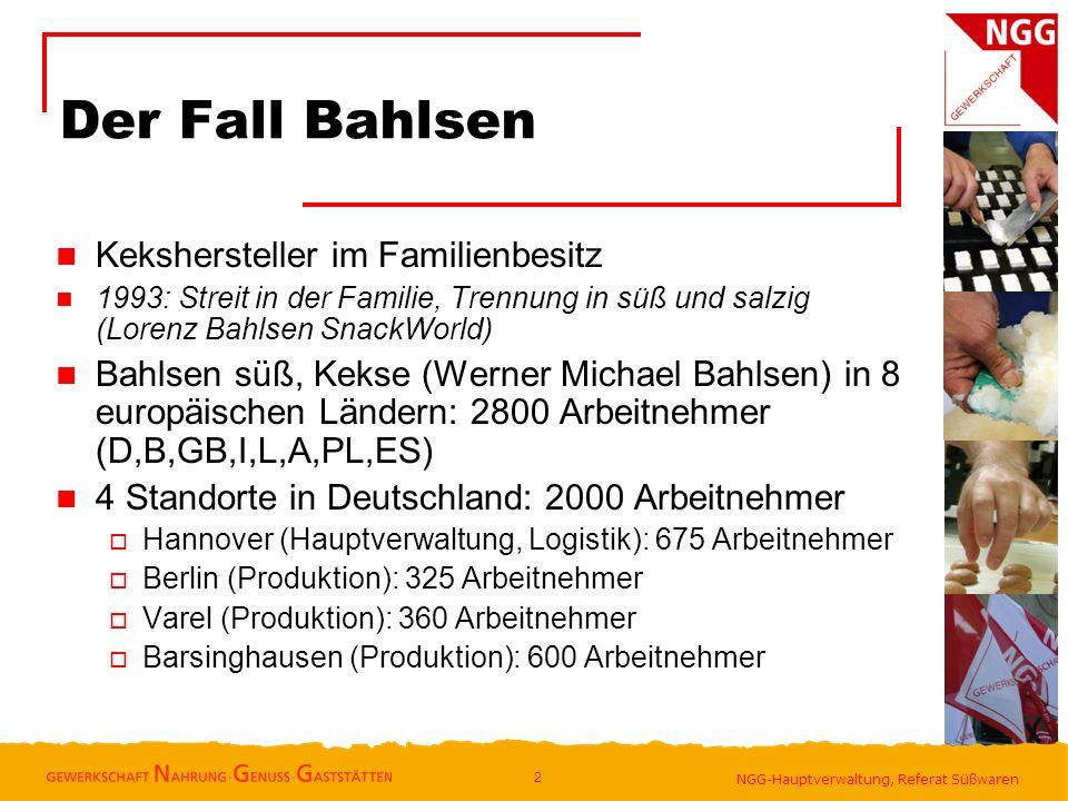 Der Fall Bahlsen Kekshersteller im Familienbesitz