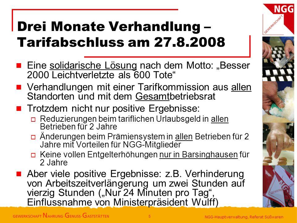 Drei Monate Verhandlung – Tarifabschluss am 27.8.2008