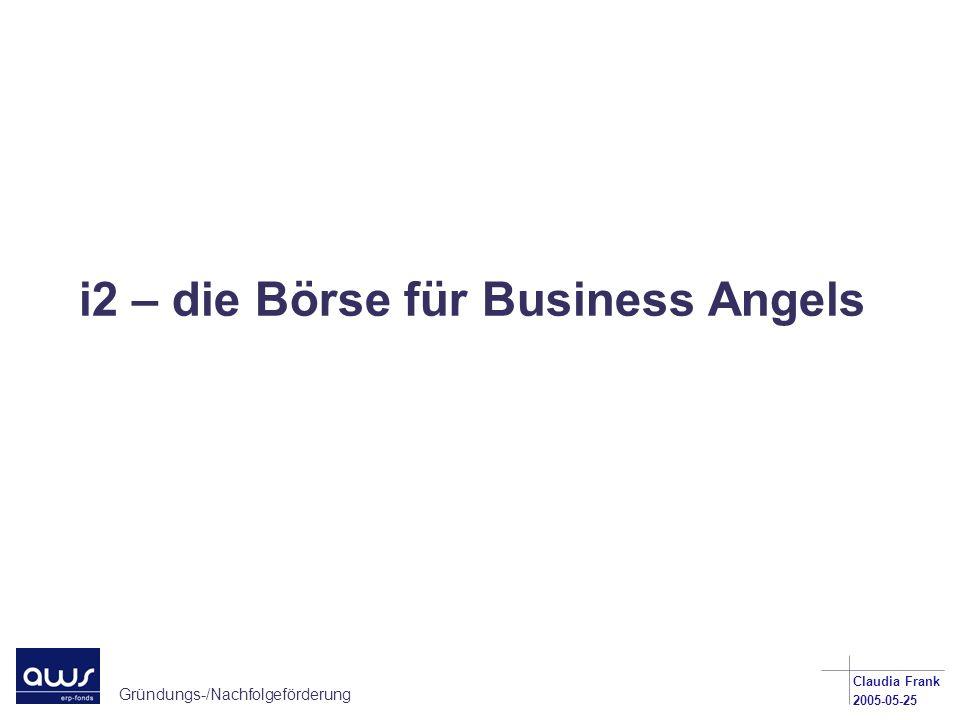 i2 – die Börse für Business Angels