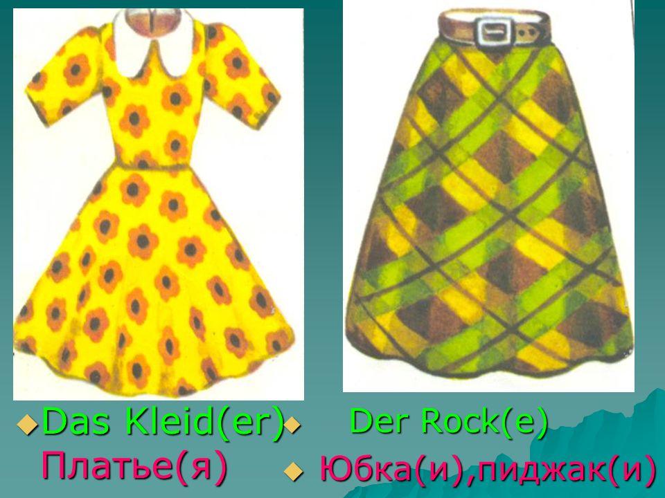 Das Kleid(er) Платье(я)
