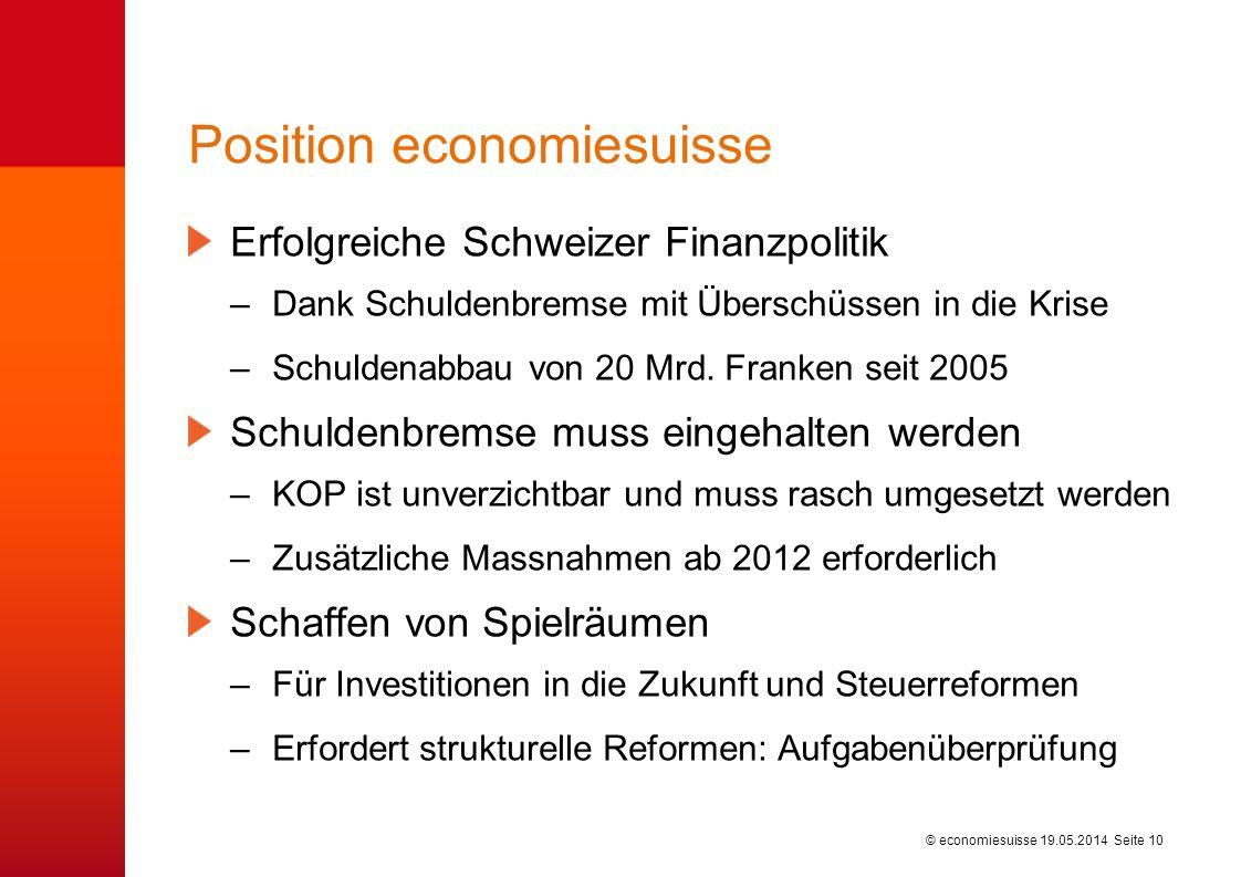 Kontaktpersonen: Dr. Frank Marty Stv. Leiter Finanzen und Steuern 044 421 35 84 frank.marty@economiesuisse.ch.