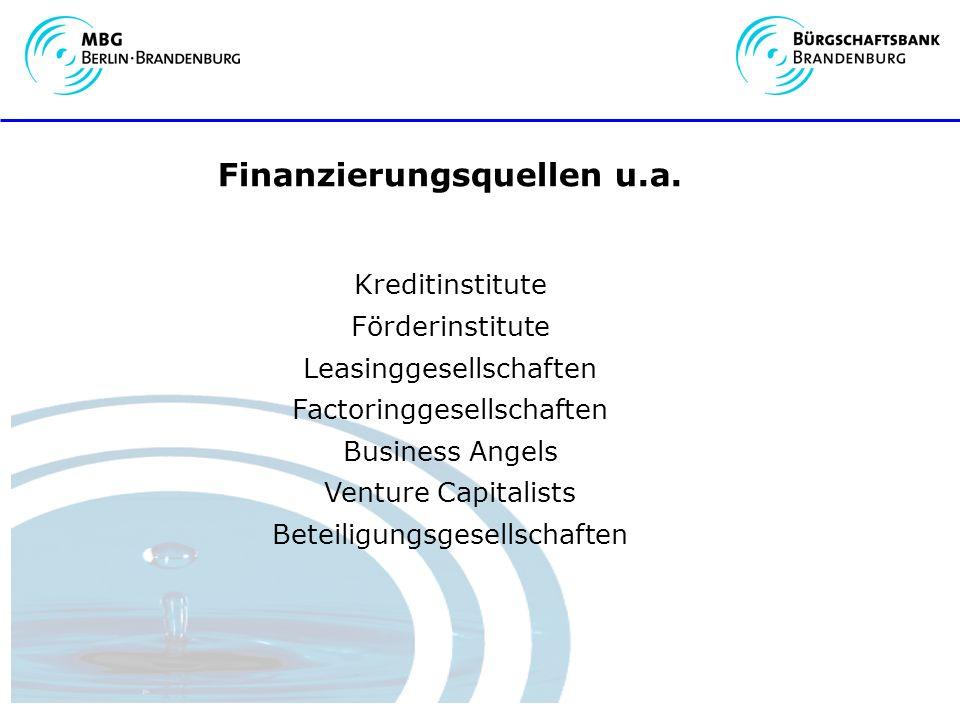 Finanzierungsquellen u.a.
