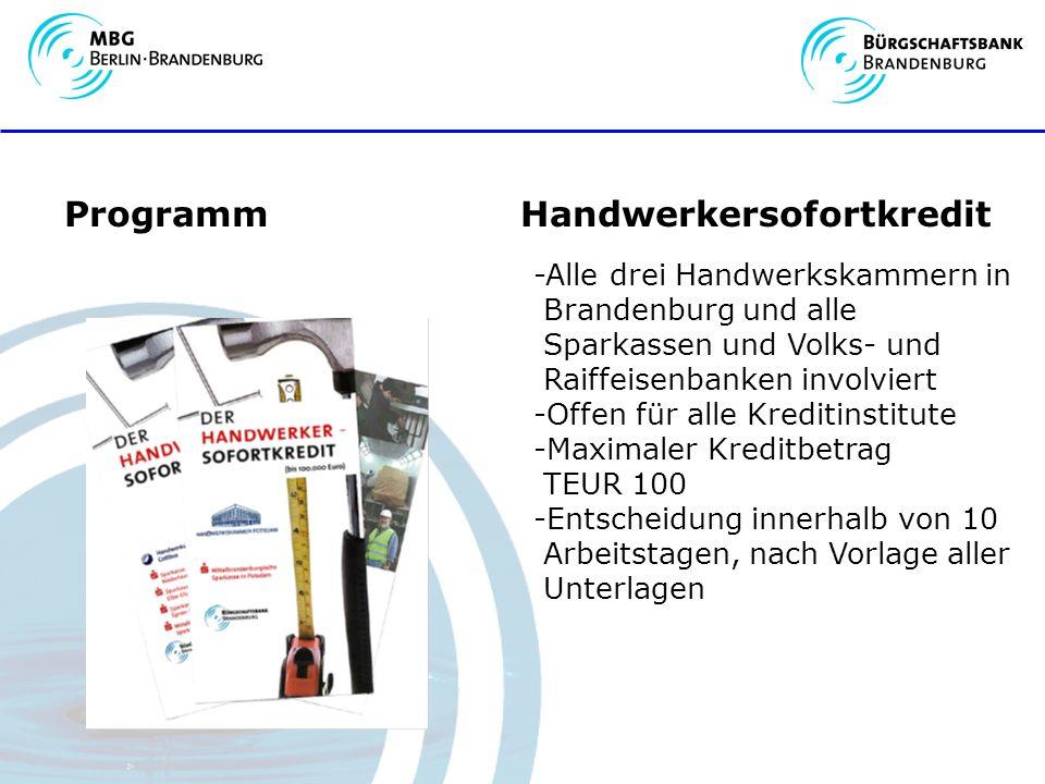 Programm Handwerkersofortkredit