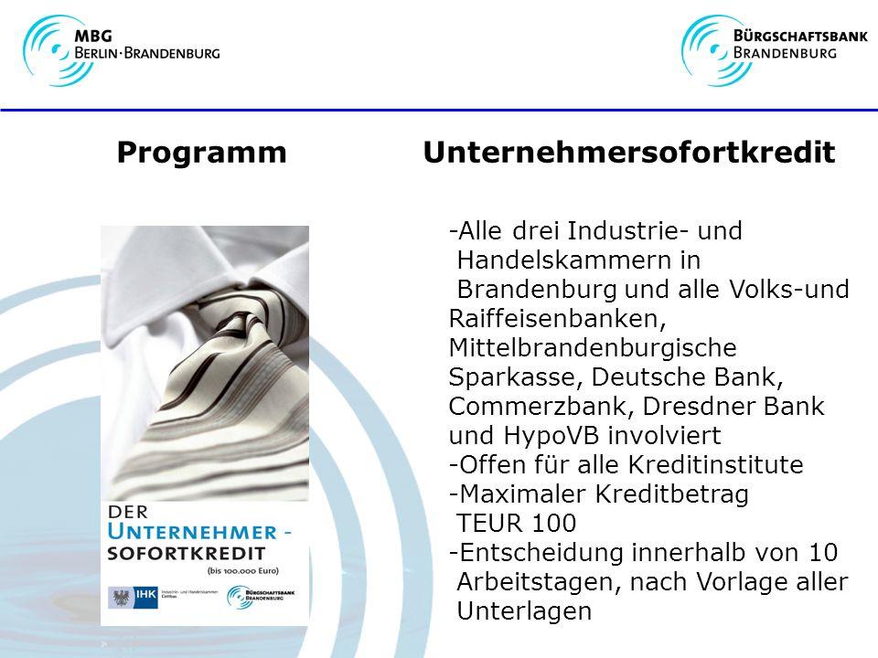 Programm Unternehmersofortkredit