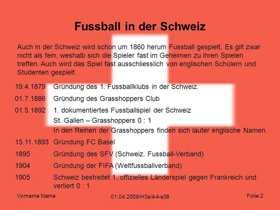 Fussball in der Schweiz