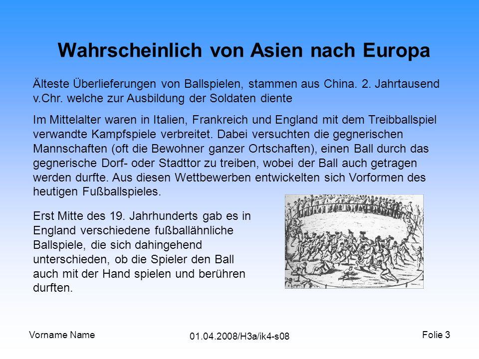Wahrscheinlich von Asien nach Europa