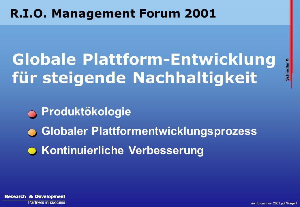 Globale Plattform-Entwicklung für steigende Nachhaltigkeit
