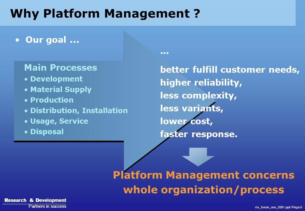 Why Platform Management