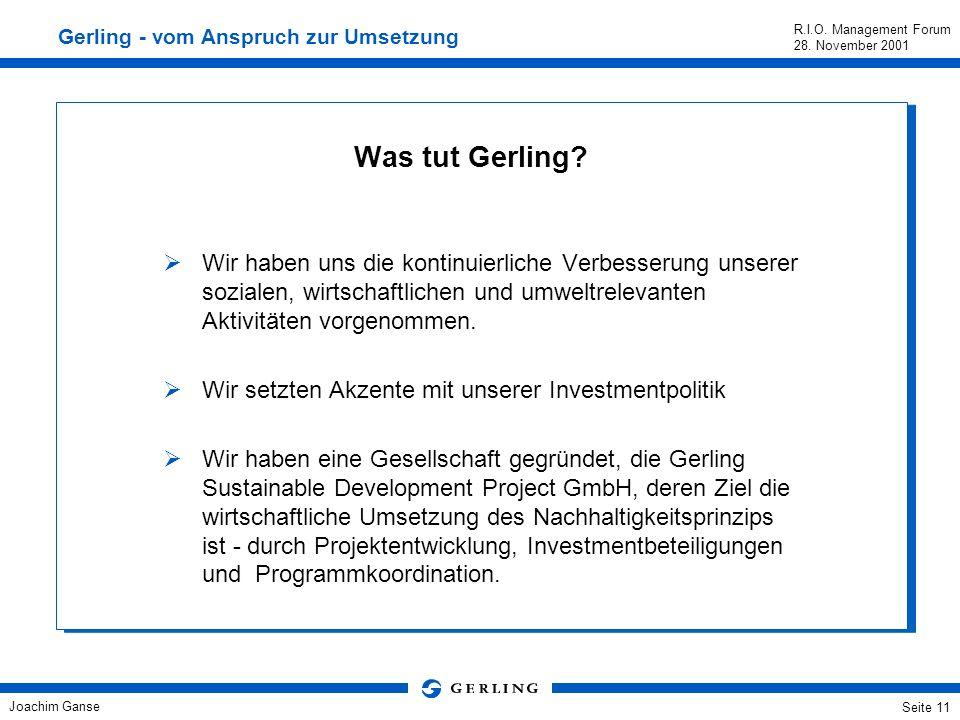 Gerling - vom Anspruch zur Umsetzung