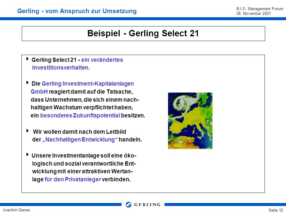 Beispiel - Gerling Select 21