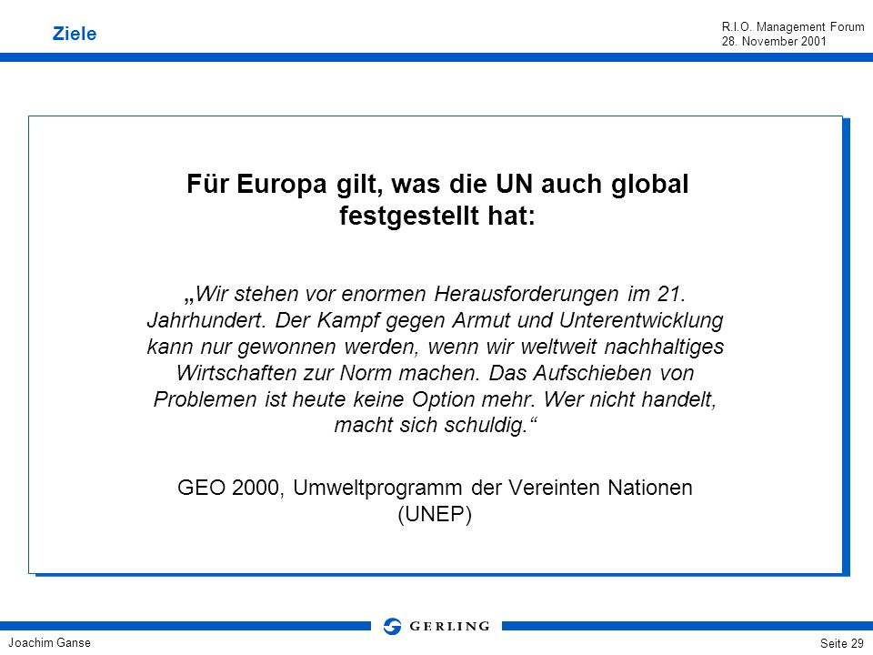 Für Europa gilt, was die UN auch global festgestellt hat:
