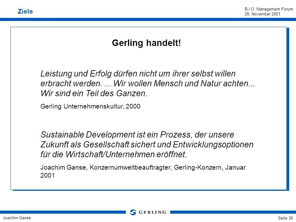 Ziele Gerling handelt!