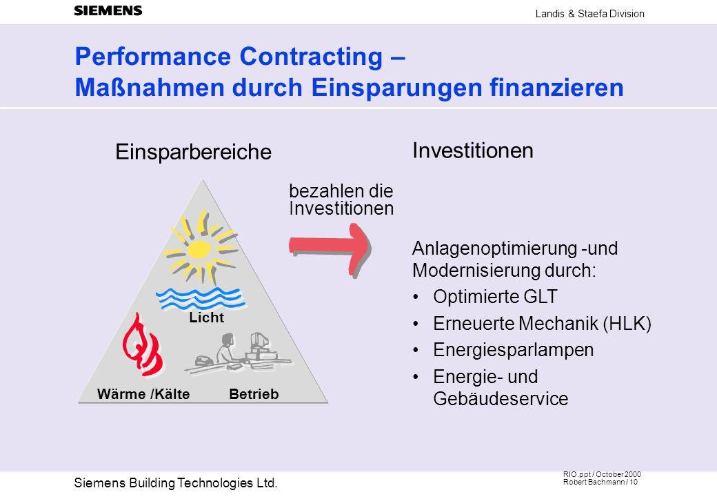 Performance Contracting – Maßnahmen durch Einsparungen finanzieren