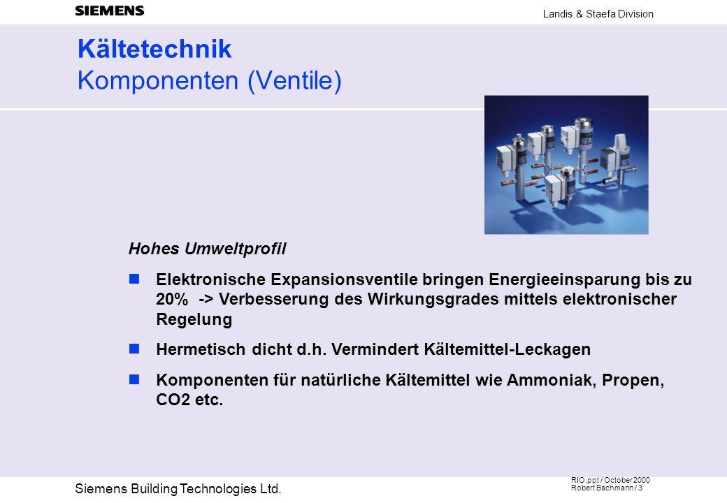 Kältetechnik Komponenten (Ventile)