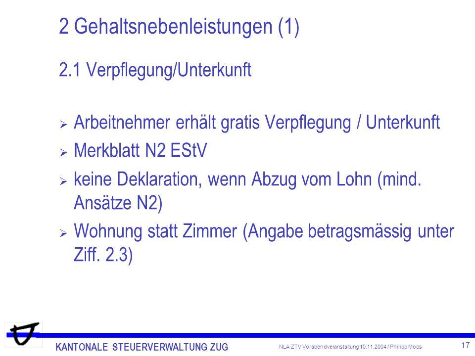 2 Gehaltsnebenleistungen (1)