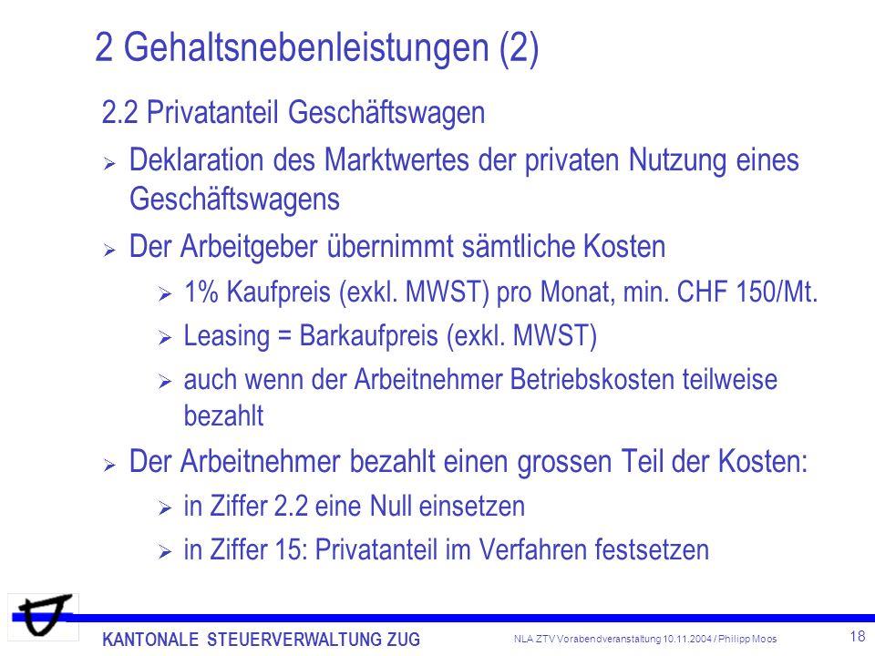 2 Gehaltsnebenleistungen (2)