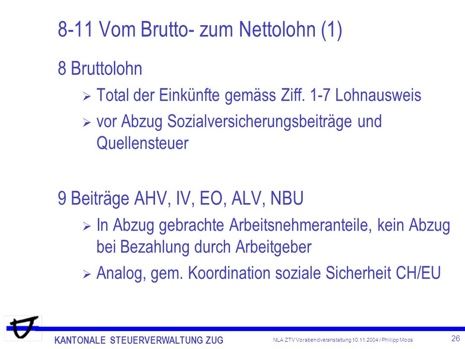 8-11 Vom Brutto- zum Nettolohn (1)