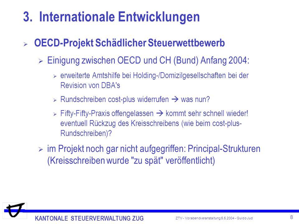 3. Internationale Entwicklungen